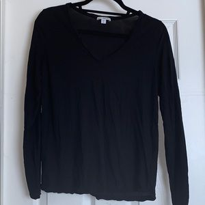 James Perse black cotton top SZ M